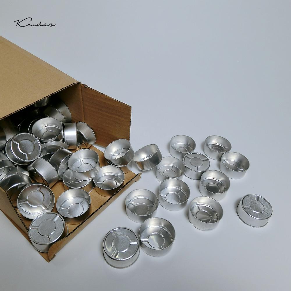 Portavelas de aluminio 95 Uds. Portavelas vacías para hacer velas DIY con 100 Uds.