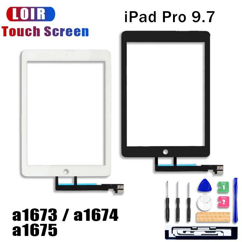 Para iPad Pro 9,7 pulgadas A1673 A1674 A1675 reemplazo de digitalizador de Panel de pantalla táctil de 9,7 pulgadas negro blanco Sensor de vidrio de pantalla táctil