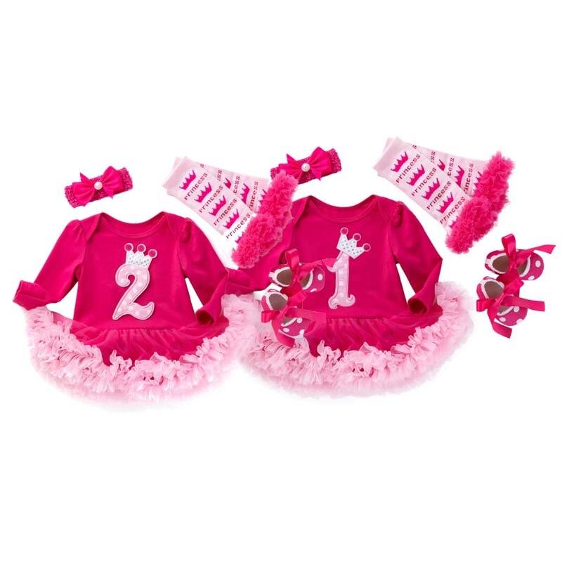 Одежда для маленьких девочек платье на день рождения для маленьких девочек возрастом от 1 года одежда для дня рождения, комплект из 2 предметов платье с длинными рукавами для малышей осенняя одежда для малышей с юбкой-пачкой