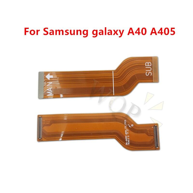 Para Samsung a40 a405 Mainboard Flex Cable Logic placa principal placa base conectar LCD Flex Cable cinta reparación repuestos