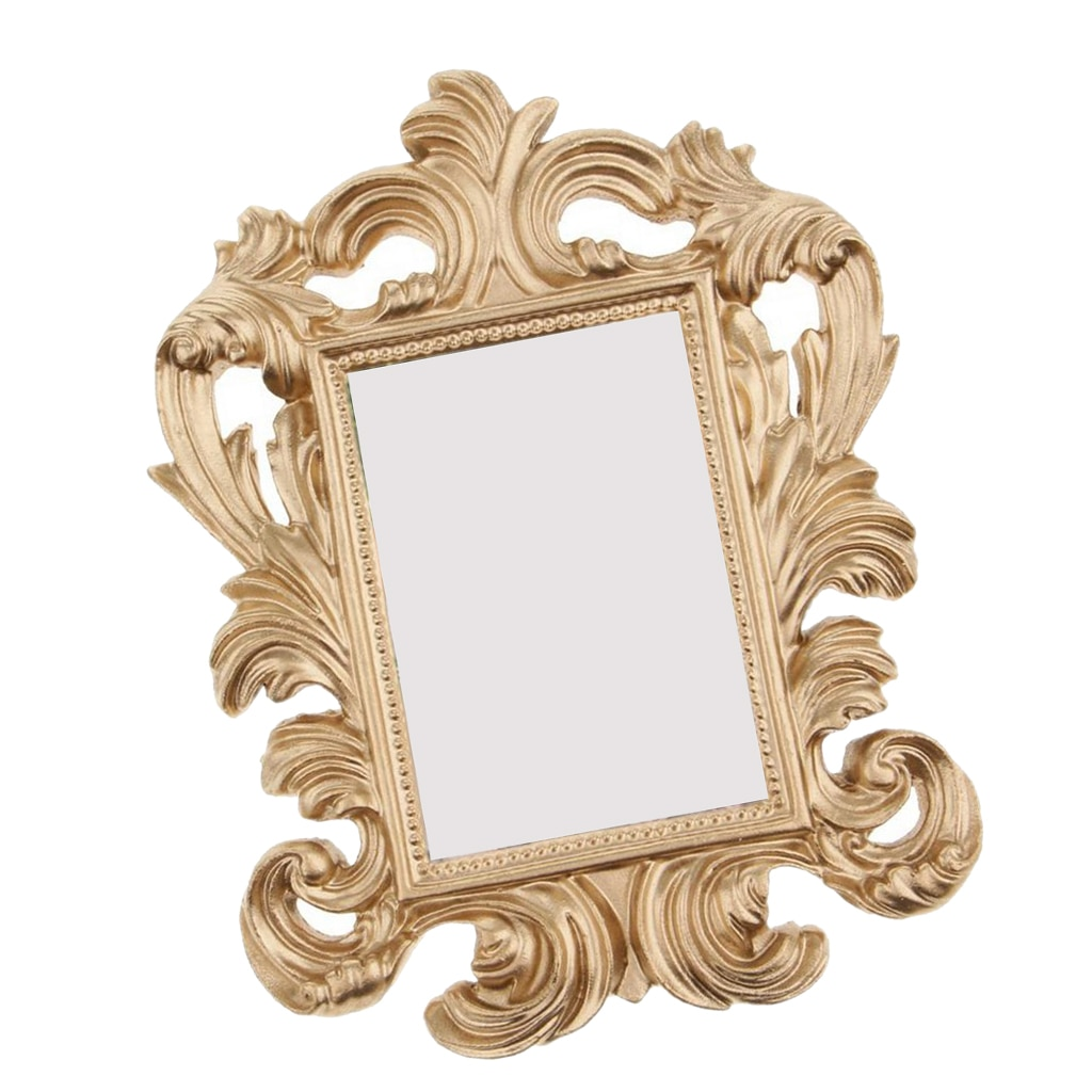 Mini suporte de fotos de ouro, suporte de fotos barroco de resina para decoração de casamento, presente de amigo e adereço