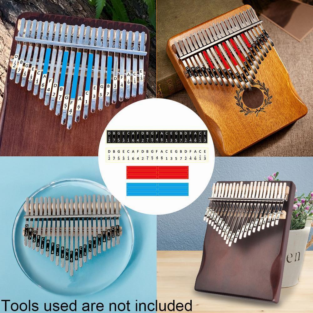 Kalimba Scale Sticker Thumb Finger Piano Key Note Stickers Percussion Musical Instrument Accessories For Beginner Learner Y9V4