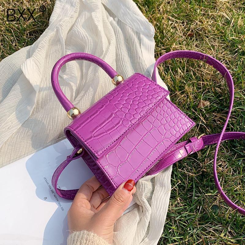 [BXX] Stone Pattern Totes For Women 2020 Spring Crossbody Shoulder Messenger Handbags Lady Travel Cross Body Bag Purses HL765