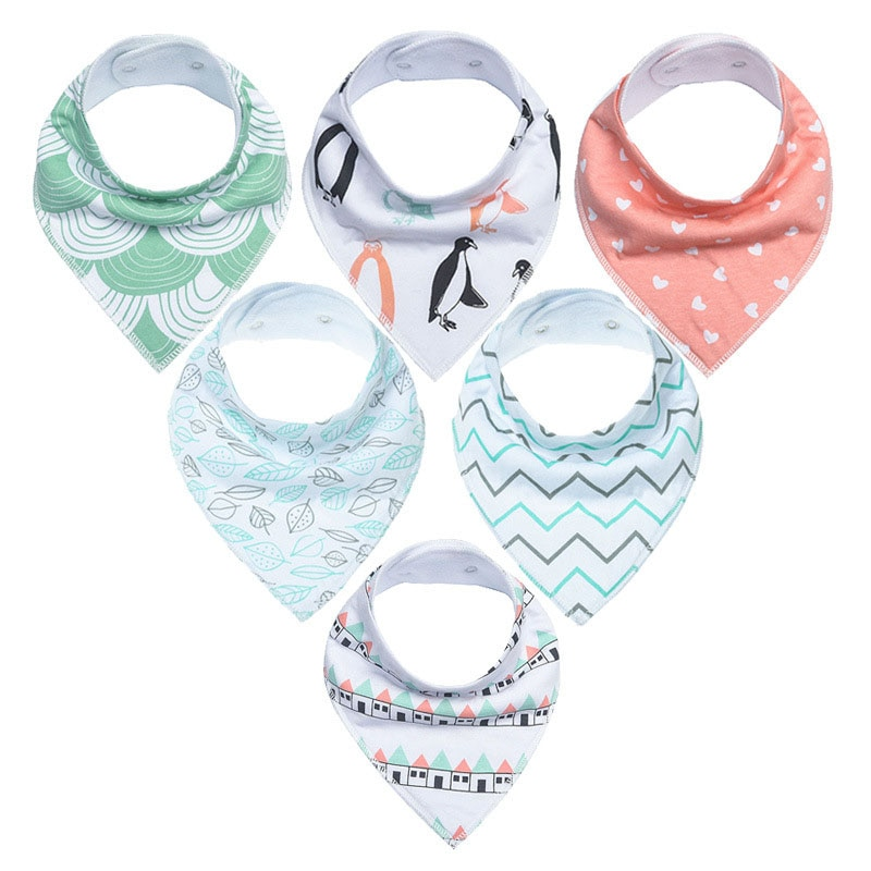 Baby Bibs Newborn Bandana Cloth for Drooling and Teething Pure Cotton Super Absorbent Feeding Accessories Boys Girls Infants