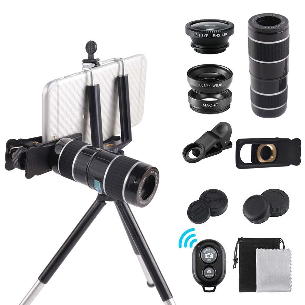 Telescopio para teléfono móvil HD 4K 22x Lente súper Zoom para teléfono inteligente teleobjetivo para iPhone Lente Super Zoom Cámara