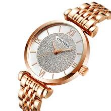 CONTENA dames montre à Quartz 2019 de luxe femmes montre plein acier inoxydable femme horloge haut marque strass montres Reloj