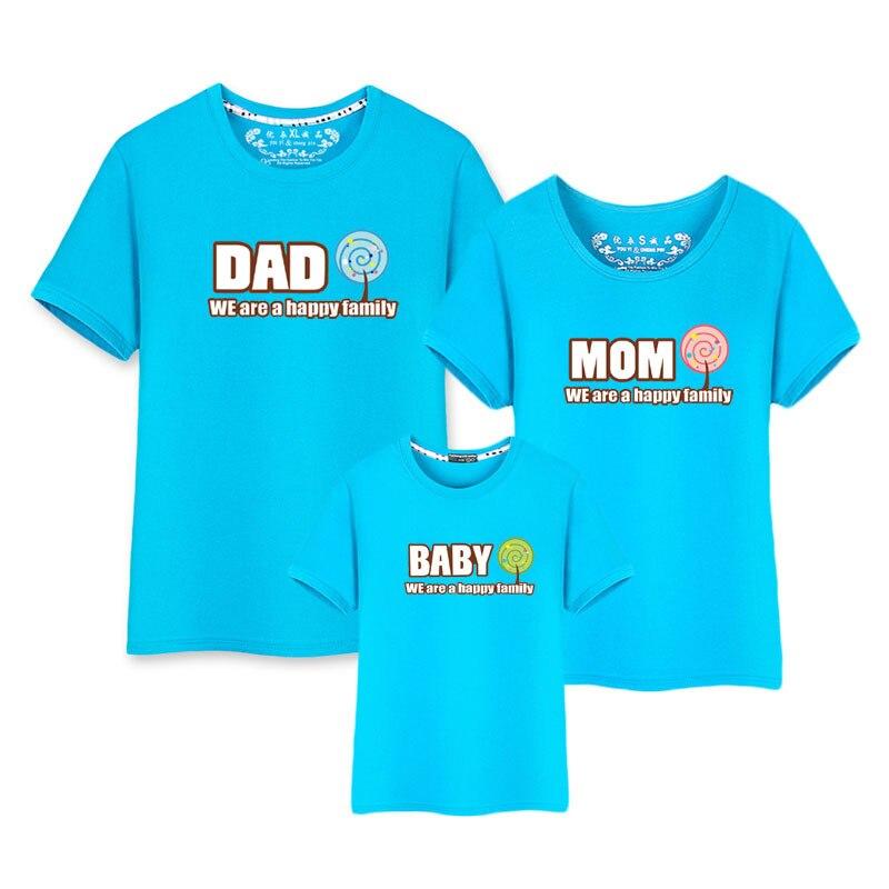 Jesteśmy szczęśliwa rodzina Tumblr Cartoon koszulki matka i syn ubrania Daddys dziewczyna pasujące zestawy maluch Kid dziecko z krótkim rękawem dla dziewczyny
