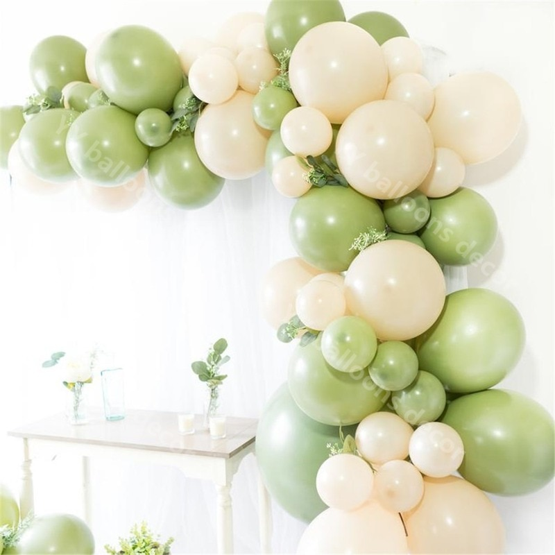 DIY aguacate Globo Verde guirnalda arco decoración de la boda Fiesta nupcial ducha, Cactus Primer Cumpleaños bebé cumpleaños decoraciones