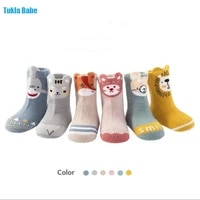 0 3y 3pairspack newborn infant boy girls socks autumn and winter new loose mouth cartoon childrens baby non slip stereo sock