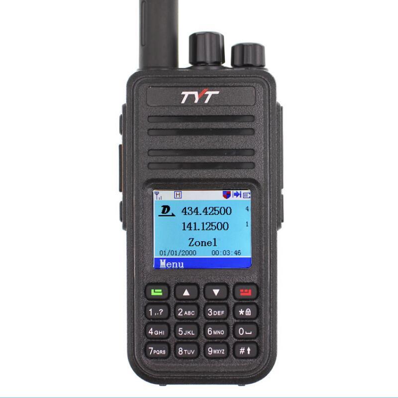 TYT MD-380 Walkie Talkie DMR Digital VHF UHF long range Two Way Radio 5 watts MD 380 Transceiver  Ham Radio Amador+Program Cable enlarge