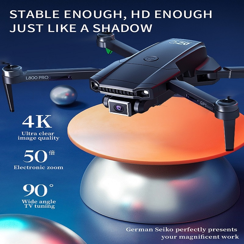 TYRC L800Pro RC Drone GPS 4k Professional HD Dual Camera Brushless Aerial Photography Wifi Foldable Quadcopter 1.2 KM Distance enlarge