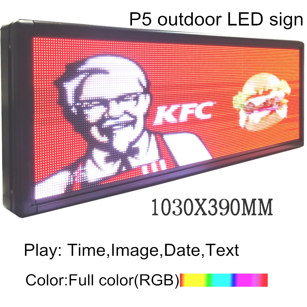 Full-Color WIFI LED message Board USB LED Programmable board Led Sign 40