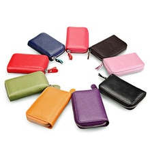 KEVIN YUN-portefeuille porte-cartes, couleurs bonbons, de styliste, en cuir véritable, étui pour carte didentité