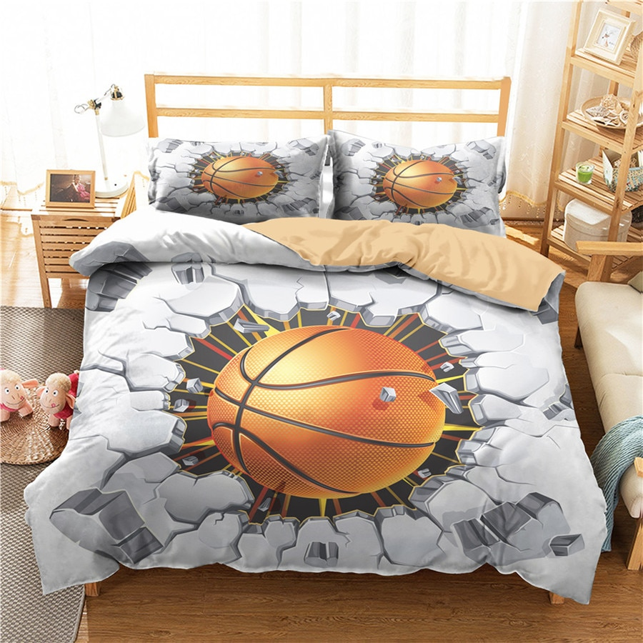 A Bedding Set 3D Printed Duvet Cover Bed Set Sport Basketball Home Textiles for Adults Bedclothes with Pillowcase #LQ16