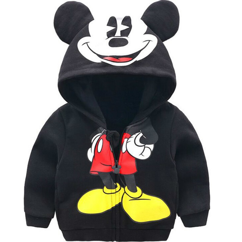 Chaqueta de niño pequeño 2019 primavera moda Otoño Linda ropa de niños Niñas Ropa de dibujos animados Moleton abrigo niños cremallera sudaderas