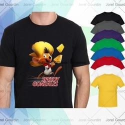 Camiseta de manga curta speedy gonzales old school cartoon masculino