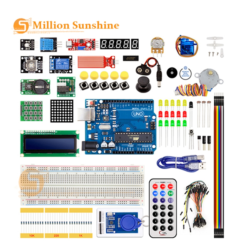 купить NEWEST RFID Starter Kit for Arduino UNO R3 Upgraded version Learning Suite With Retail Box EC20 в интернет-магазине