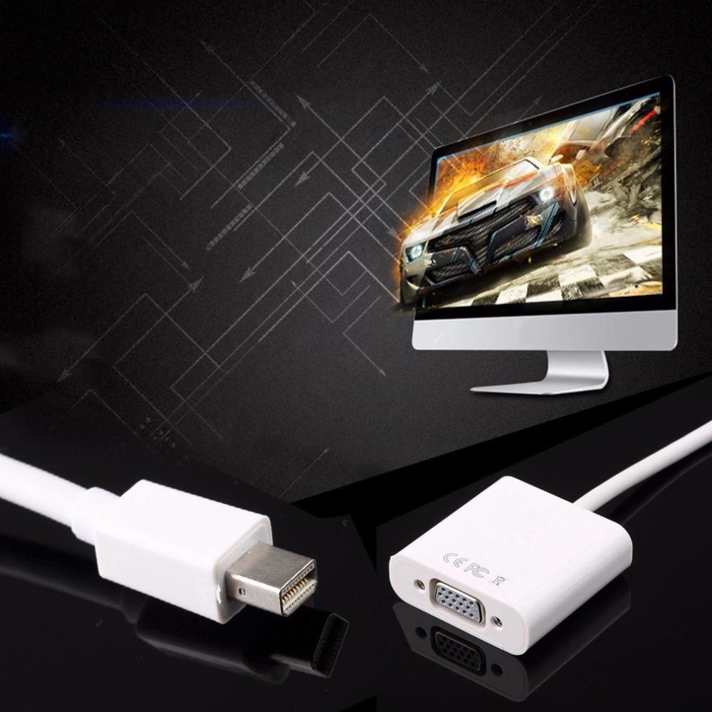 1 piezas pantalla Mini DisplayPort Puerto DP a VGA Cable adaptador para Apple para MacBook Air iMac Mac Pro Mini adaptador cable blanco