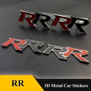 1pcs 3D Metal RR  Logo Car Stickers Emblem Trunk Badge Decals for Honda RR Civic Mugen Accord Crv City Hrv