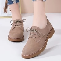 new womens shoes genuine leather oxford mother girls lace up fashion casual shoes women sneakers flats moccasins shoes