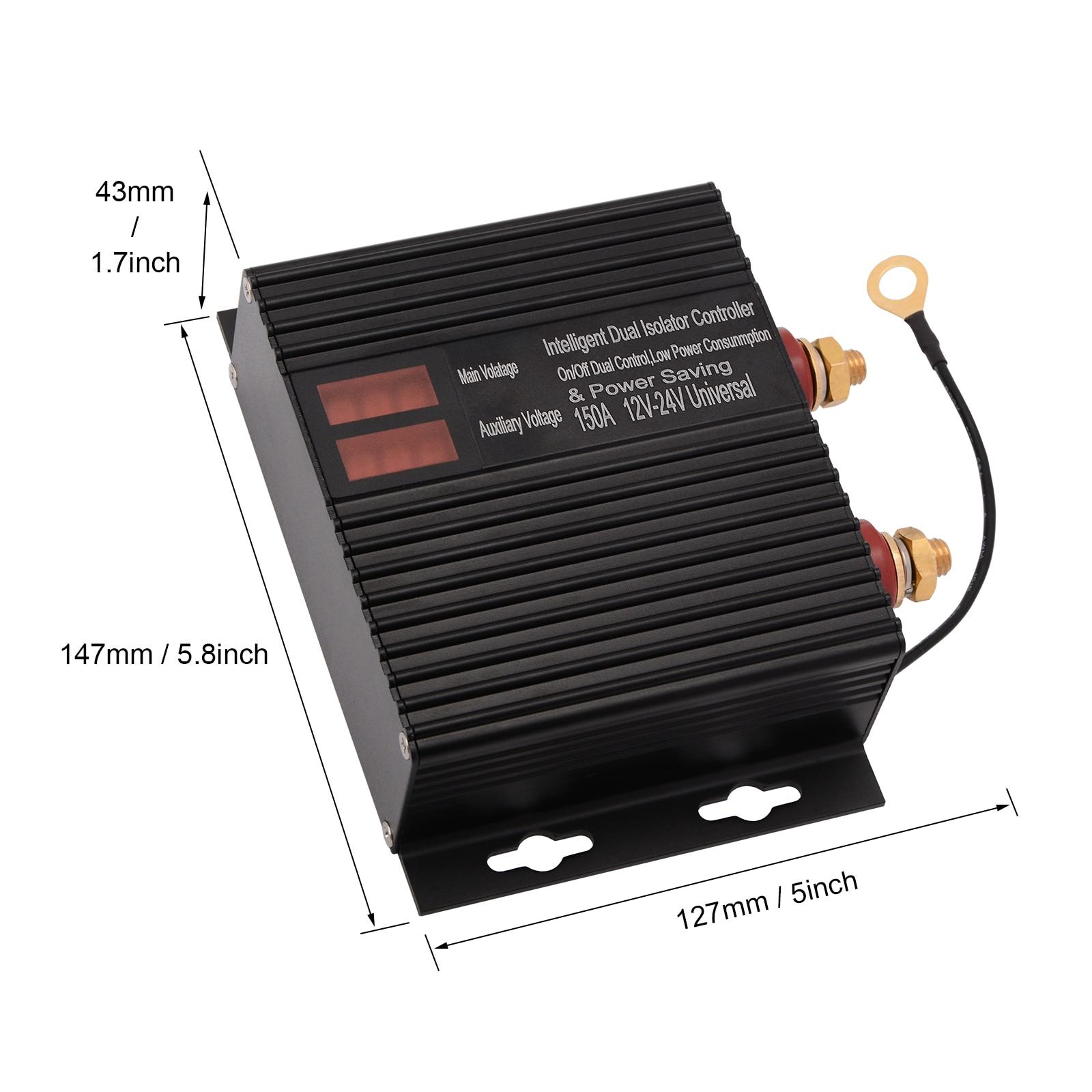 Купить с кэшбэком EHDIS 12V 24V 150A Car Dual Battery Switch Relay Auto Disconnection Isolator Power Controller Protection Vehicle Motor Accessory