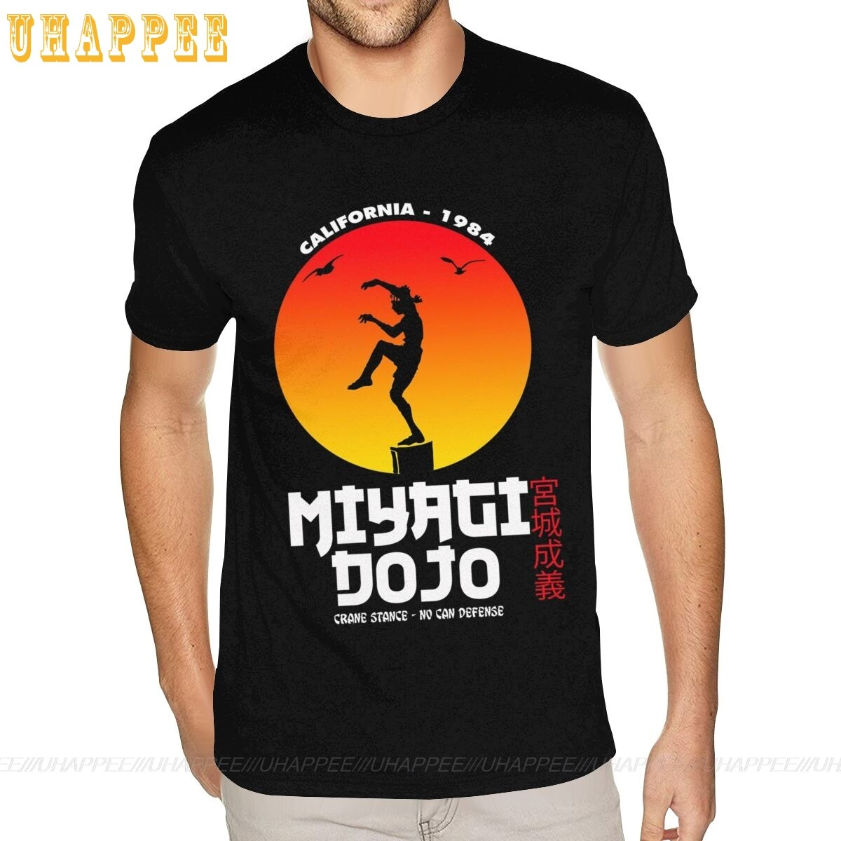 3XL Miyagi Dojo T-shirts Homme Grunge Stil Kurzarm Rundhals Männer Sommer T Shirts Rabatt Kleidung