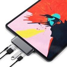Adaptateur de moyeu de USB C avec USB-C TYPE C PD charge 4K HDMI USB 3.0 3.5mm casque avec 2018 iPad Pro MacBook Pro SAMSUNG S8 S9 S10