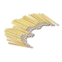 100pcs p160 q2 nickel plated springs test probe brass tube outer diameter 1 36mm total length 24 5mm electronic test probe tool