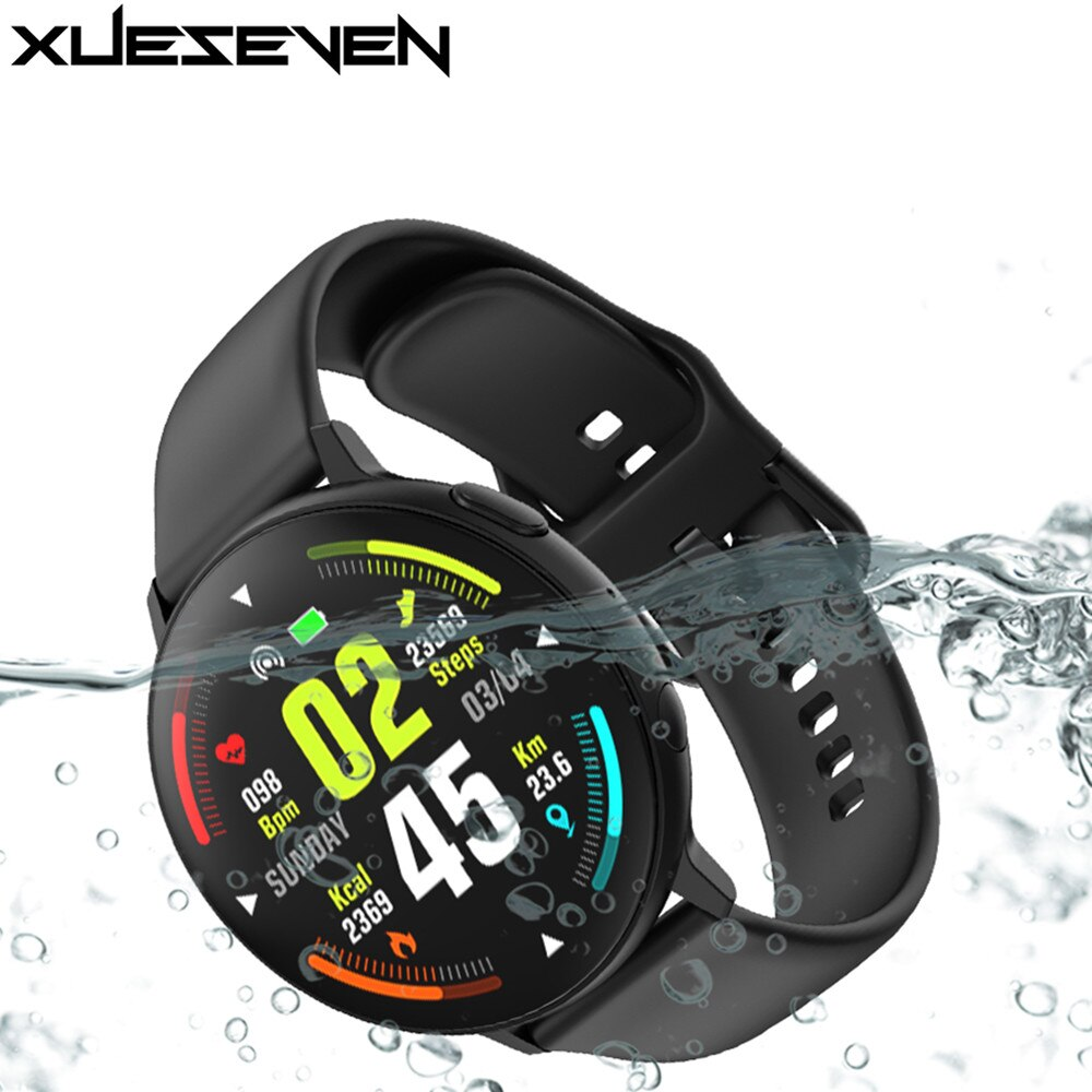 XUESEVEN Full touch screen Watches Fitness Tracker ECG Smart Watch Heart Rate Blood Pressure Monitor Bluetooth Call SmartWatch