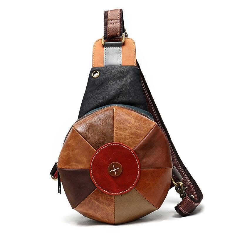 المرأة حقيبة صدر للرجال لينة جلد طبيعي حقائب كروسبودي للإناث حقيبة ساع حقيبة السفر الصغيرة عادية بولسا الأنثوية لينة