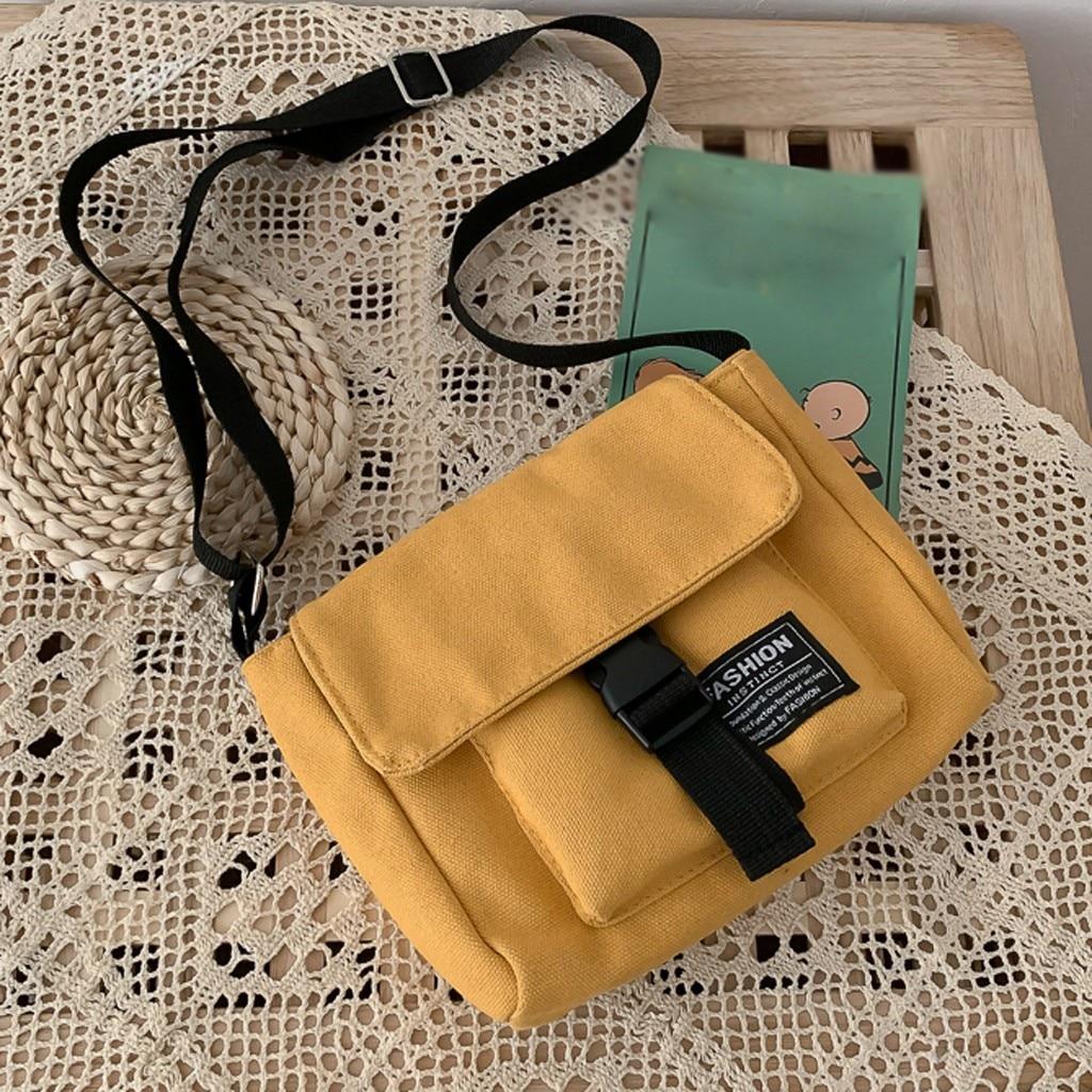 Women Canvas Bag Joker Cute Messenger Bag Shopping Bag Solid Color High Capacity Shoulder Bag Square Bag сумка женская большая