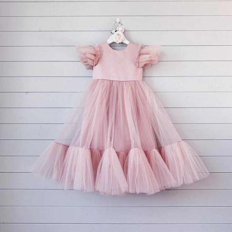 Vestidos de flores para niñas a la moda para boda y fiesta Vestidos de princesa para niños Vestidos largos de verano para niñas Vestidos disfraces para niños