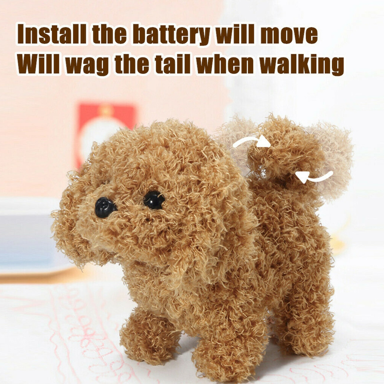 Realistic Teddy Simulation Dog Smart Called Walking Electric Plush Toy Teddy Robot Dog Child Toy Pup