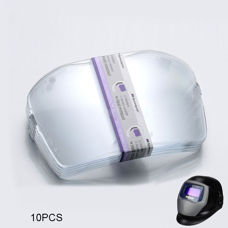 10 יח'חבילה 3M 527070 חום עמיד חיצוני הגנת צלחות/זכוכית עבור Speedglas 9100V/9100X סדרת ריתוך קסדות