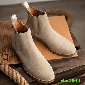 Элегантные Мужские повседневные ботинки «Челси» без шнуровки; Полностью сетчатая кожаная обувь; Модные модельные ботинки для мужчин; Офици...