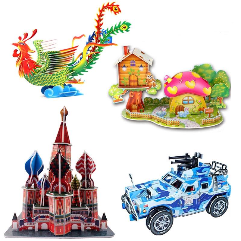 Rompecabezas 3D DIY juguetes educativos para edades tempranas para niños