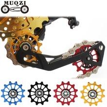 MUQZI bicicletta 12t positivo negativo ruota dentata deragliatore posteriore guida bici puleggia cuscinetto ceramico