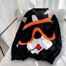 Hommes beau chandail étranger choses Streetwear Harajuku Hip Hop chaud hiver vêtements pull sweat corée lâche manteau Cartoon