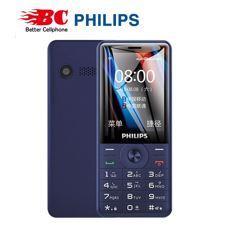 Original Philips E517A  keyboard  phone 2.4 inch 1700mAh battery single camera FM Radio support memory card Dual SIM 4G FDD LTE