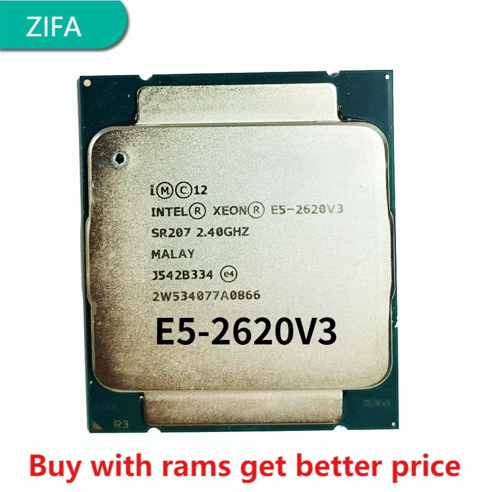 E5-2620 v3 2.4GHz 15M 6 النواة 12 موضوع 85w LGA 2011-3 المعالج خادم ddr4 ذاكرة عشوائية