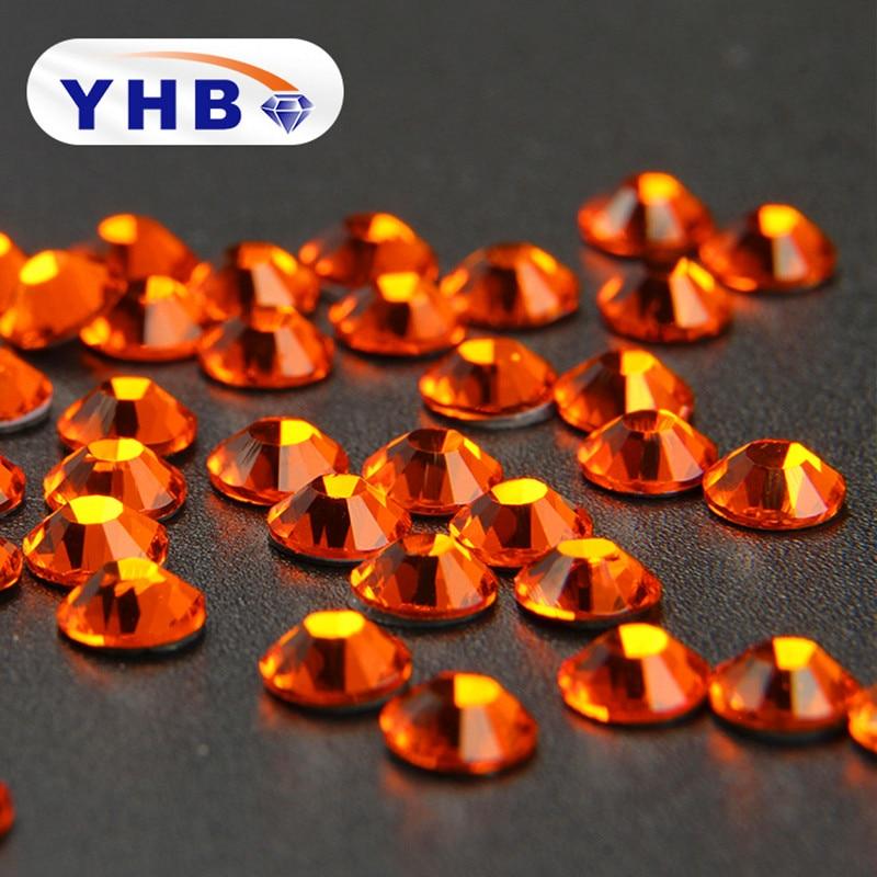 YHB SS4-SS20 about 40Colors Super Glitter Crystal Hot Fix Rhinestones FlatBack Strass Fabric Garment Nail Art Decorations