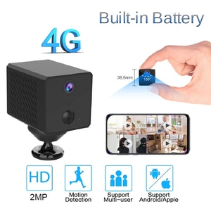 HONTUSEC 4MP 4G Low Power Battery Camera Video Recorder Mini Camcorder Battery Built-in Motion Detection Night Vision 4G Camera