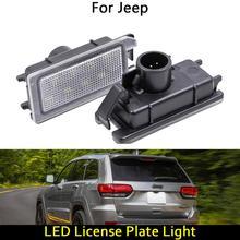 Für Jeep Grand Cherokee Compass Patriot Maserati Levante für Fiat 500 für Dodge Viper Auto Hinten LED license platte licht