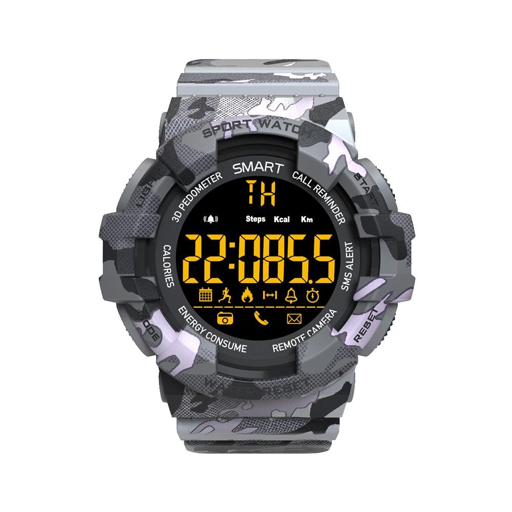 EX16M Camo Smart watch 5 ATM Waterproof Activity Tracker Steps Calories Distance Smart Watch