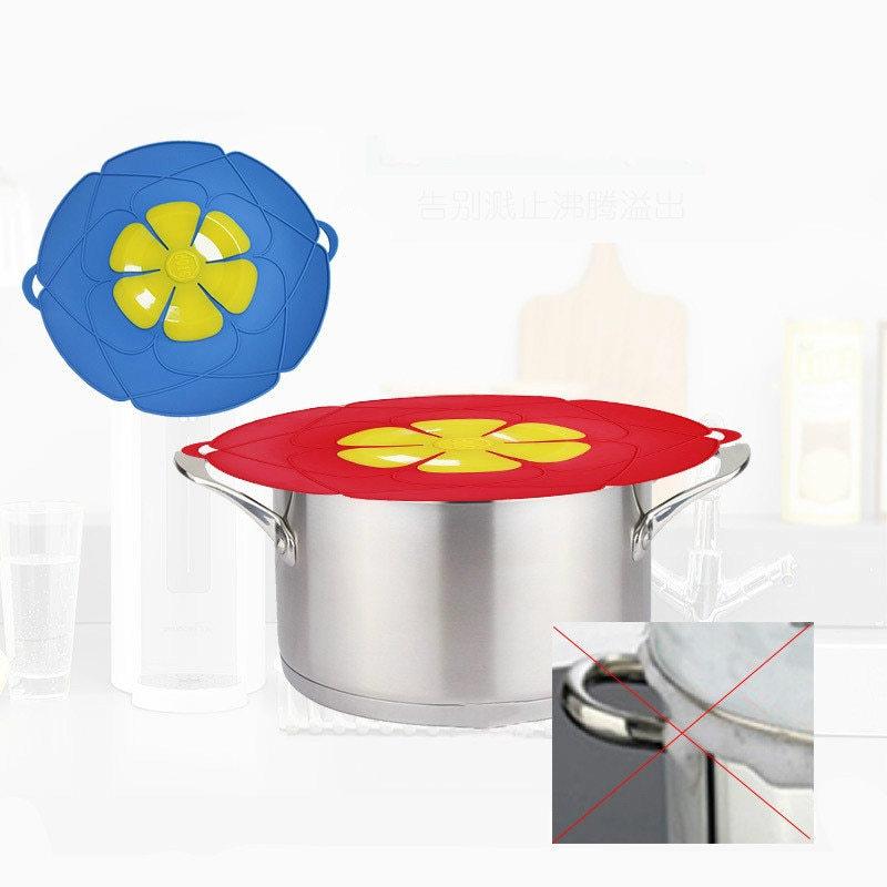 Silicone Spill Stopper Pot Lids High temperature resistance Anti-Overflow Plugging Kitchen Cookware Tools Accessories Supplies