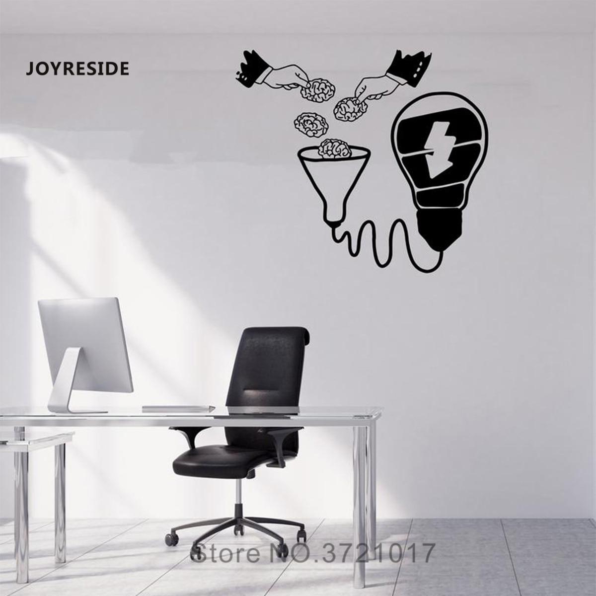 Joyresie Oficina negocios calcomanías de pared bombilla Idea pegatina de pared equipo de oficina en casa trabajo decoración de pared pensamientos Idea calcomanía WM417