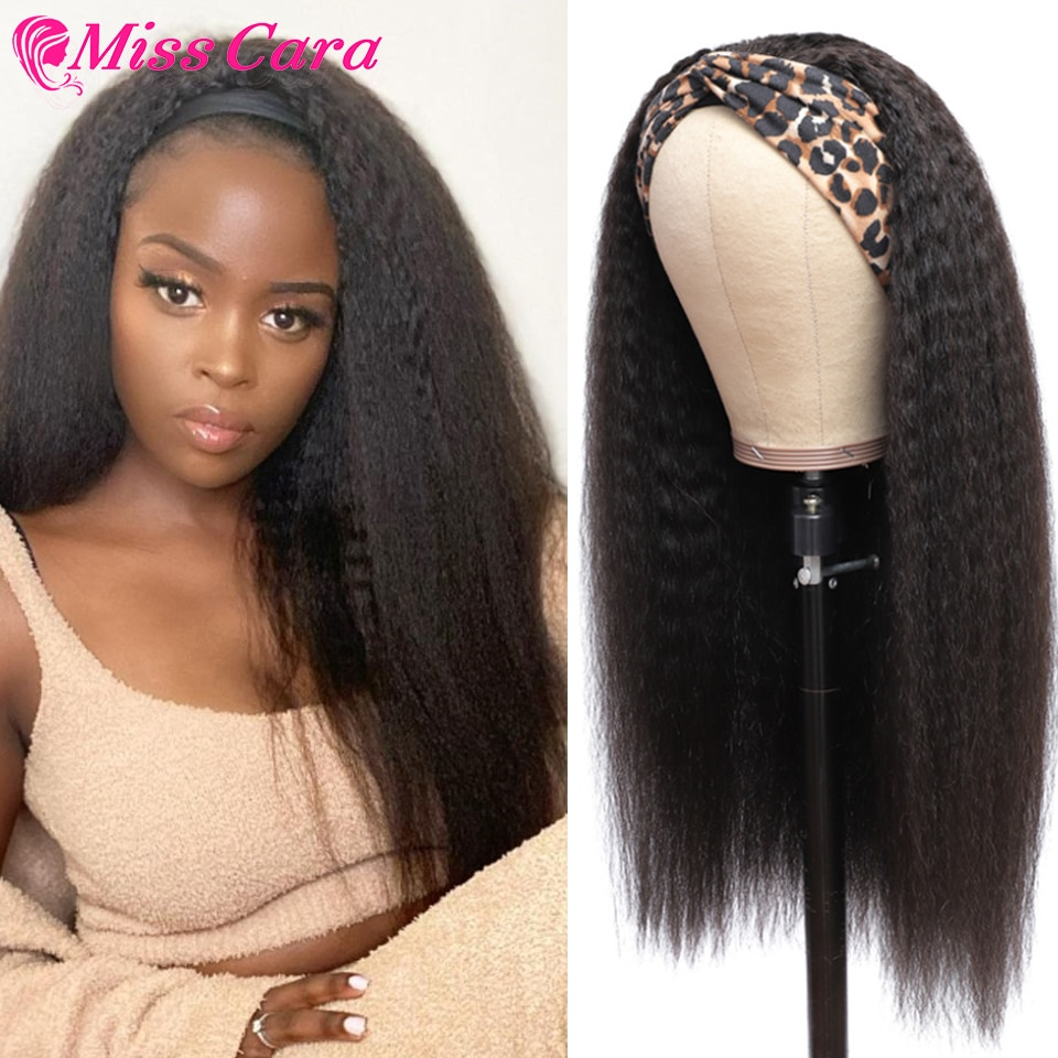AliExpress - Headband Wig Human Hair Kinky Straight Brazilian Human Hair Wig For Black Women Deep WaveHeadband Wig Human Hair kinky Curly Wig