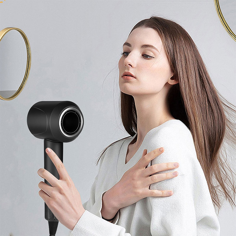 Professional Hair Dryer Leafless High Speed Hairdryer 220V Home Temeperature Control Salon Dryer Wind Negative Ionic Blow Dryer enlarge