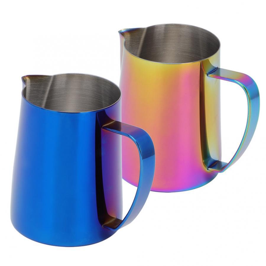 600ml de aço inoxidável titanize café jarro copo de espuma de leite jarro para latte arte caneca de café