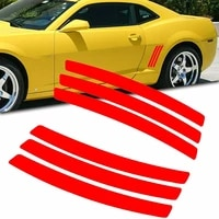 12  Panel Sticker Accessories Cover 12  6pcs For Chevy Camaro 2010-2015 Glossy Vinyl